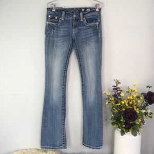 Miss Me Embroidered Embellished Bootcut Jeans